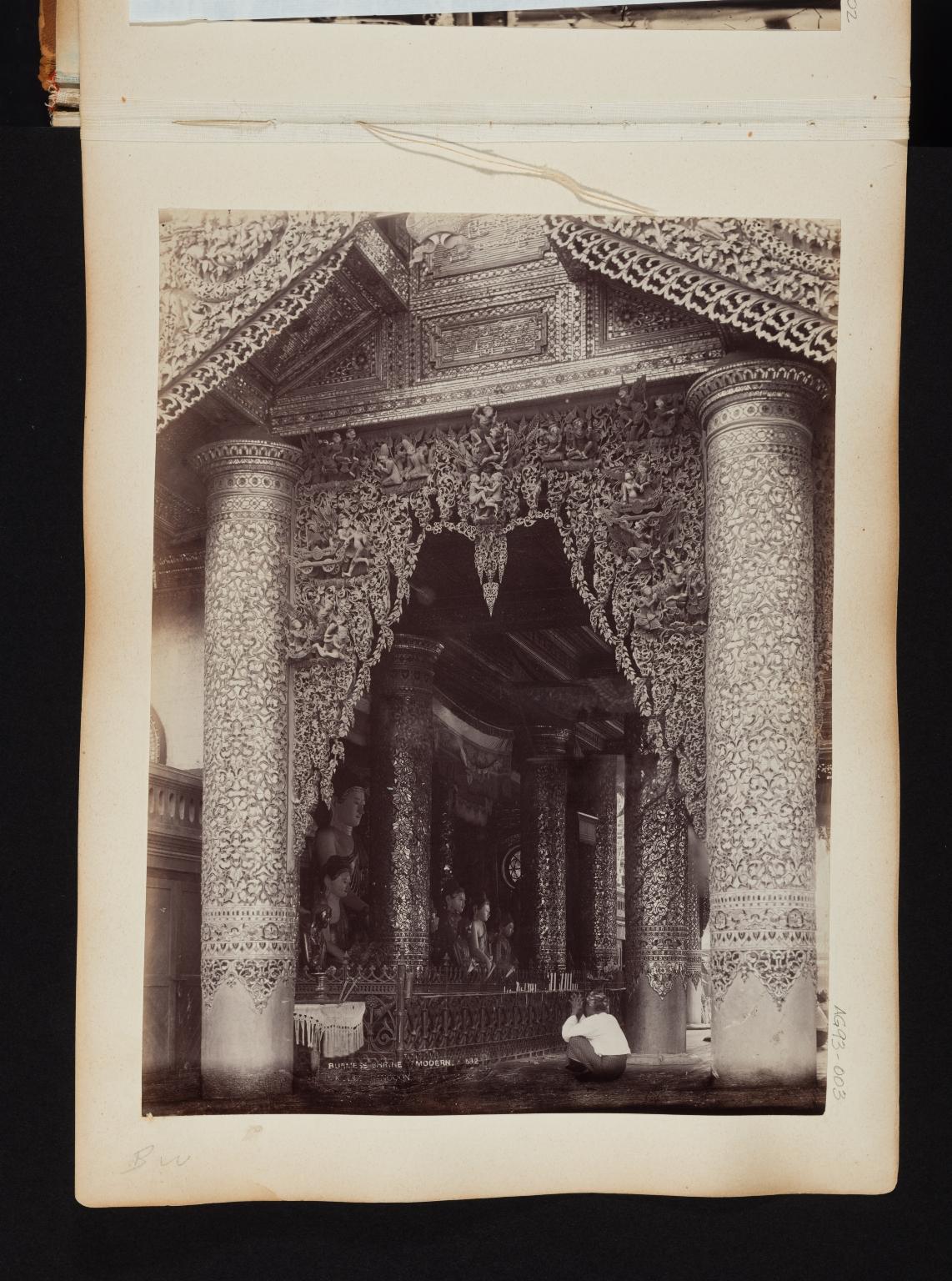 Burmese Shrine in Rangoon, Burma.