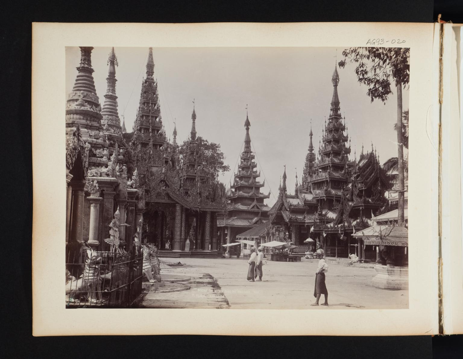 Scene at the Shwe Dagoda Pagoda.