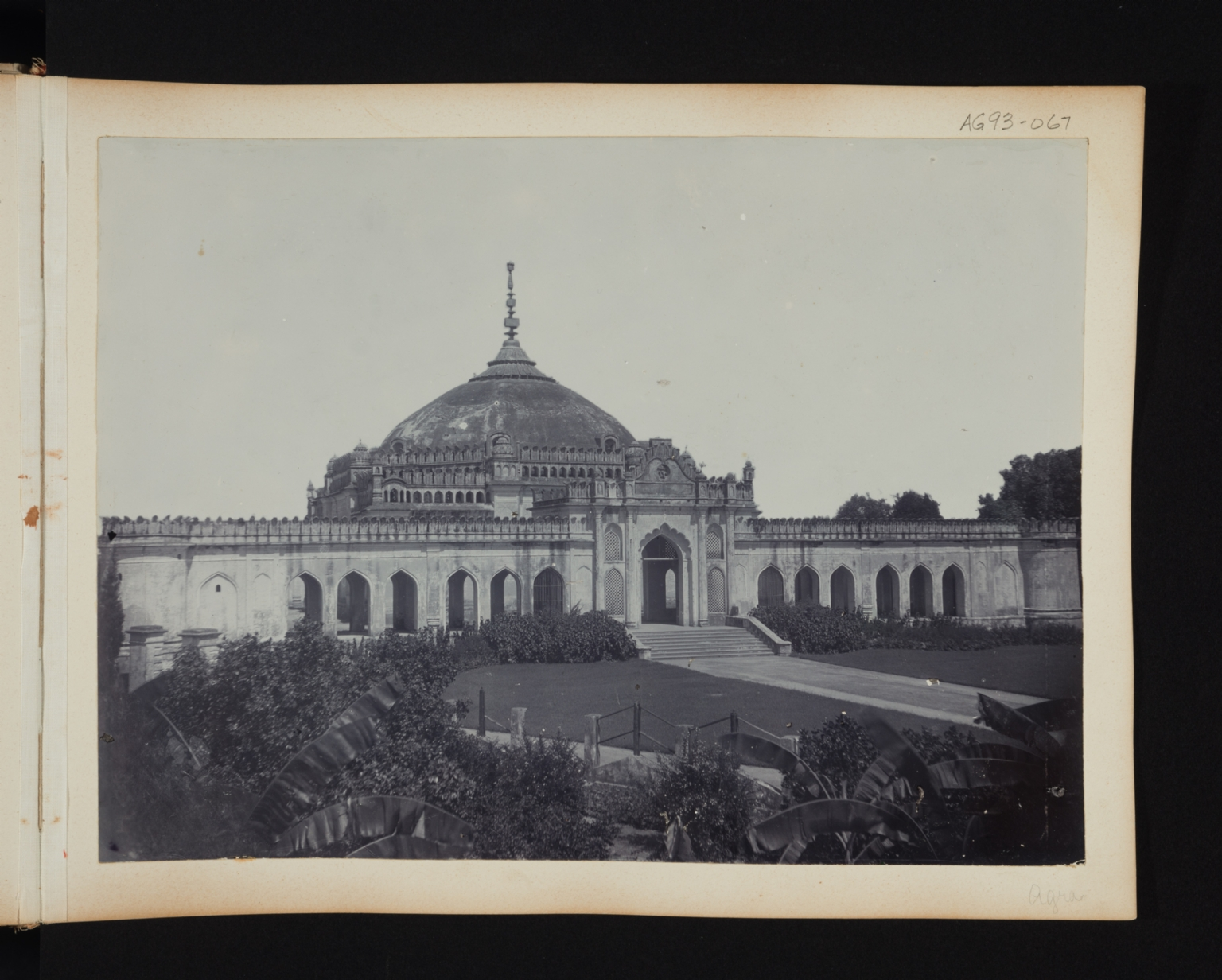 Building exterior of a domed building in Agra, India.