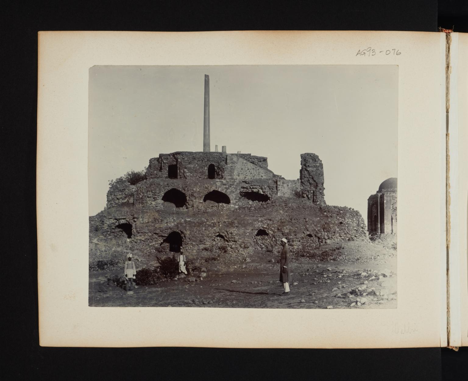 Building ruins in Delhi, India.
