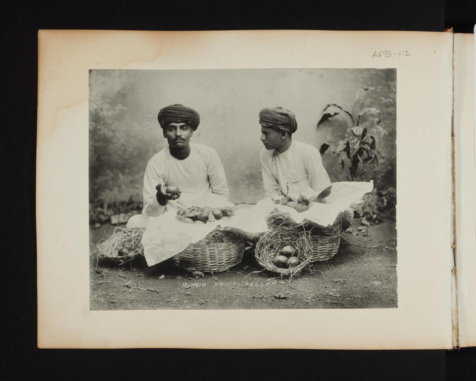Hindu fruit sellers in India.