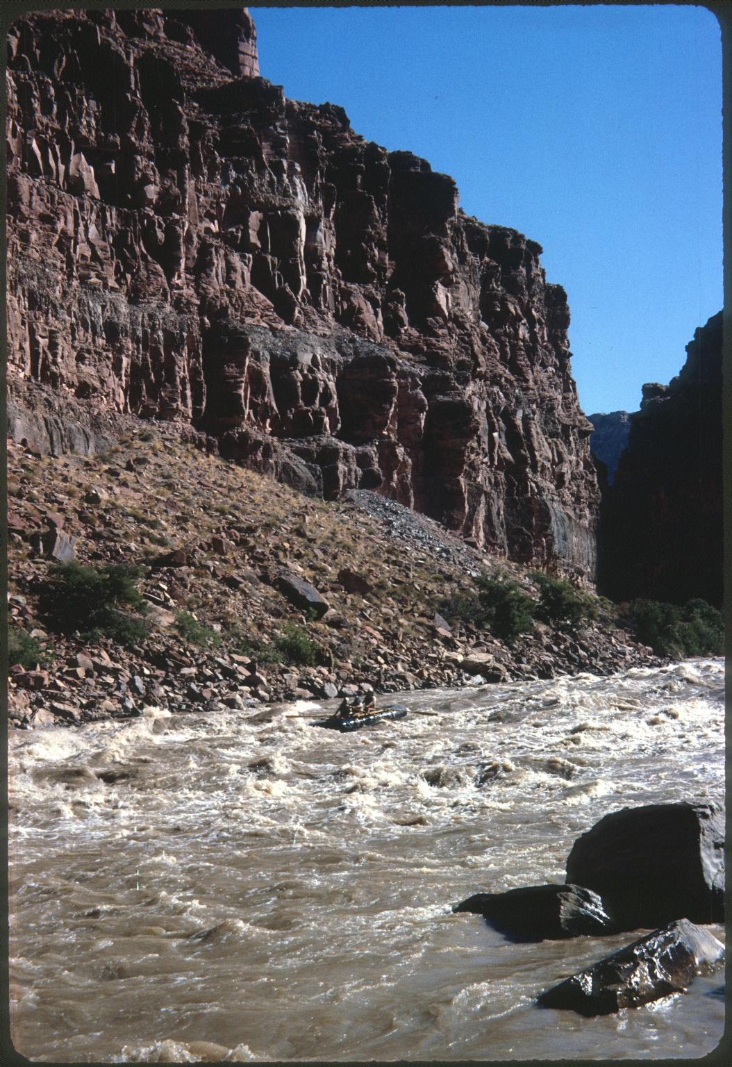 Rafters navigating rapids