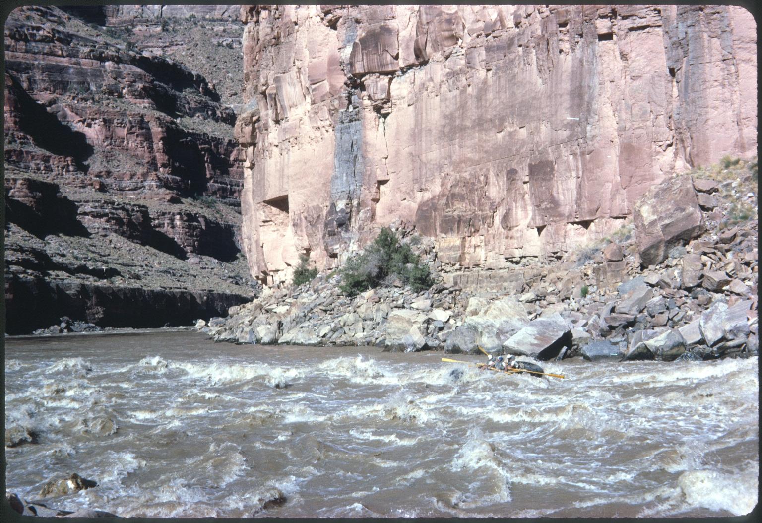 Rafters navigating Dark Canyon Rapids