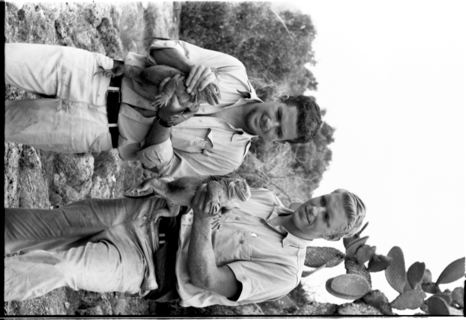 Jack Ferguson and Scott Moore with Iguanas