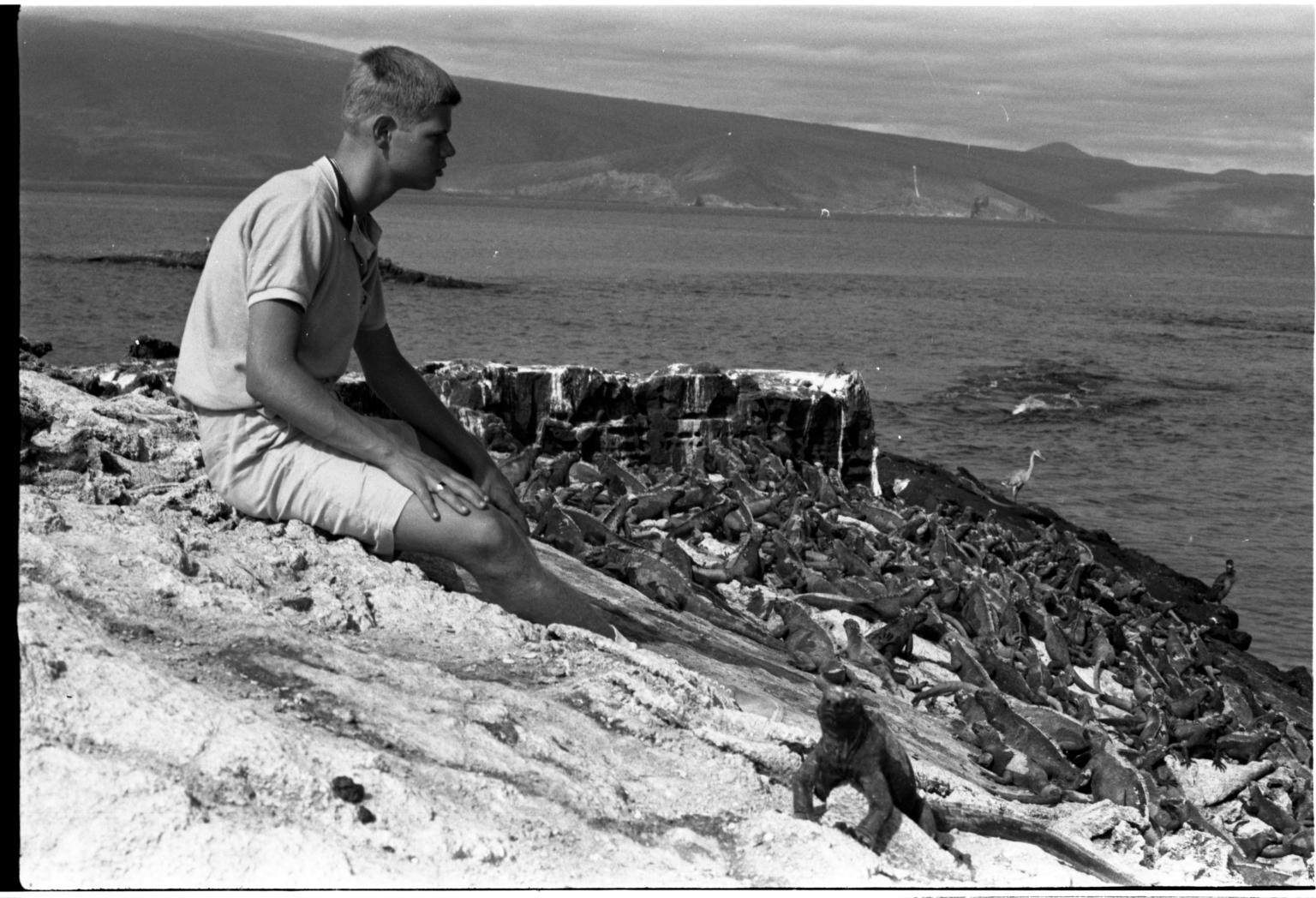 Jack Murphy with Marine Iguanas