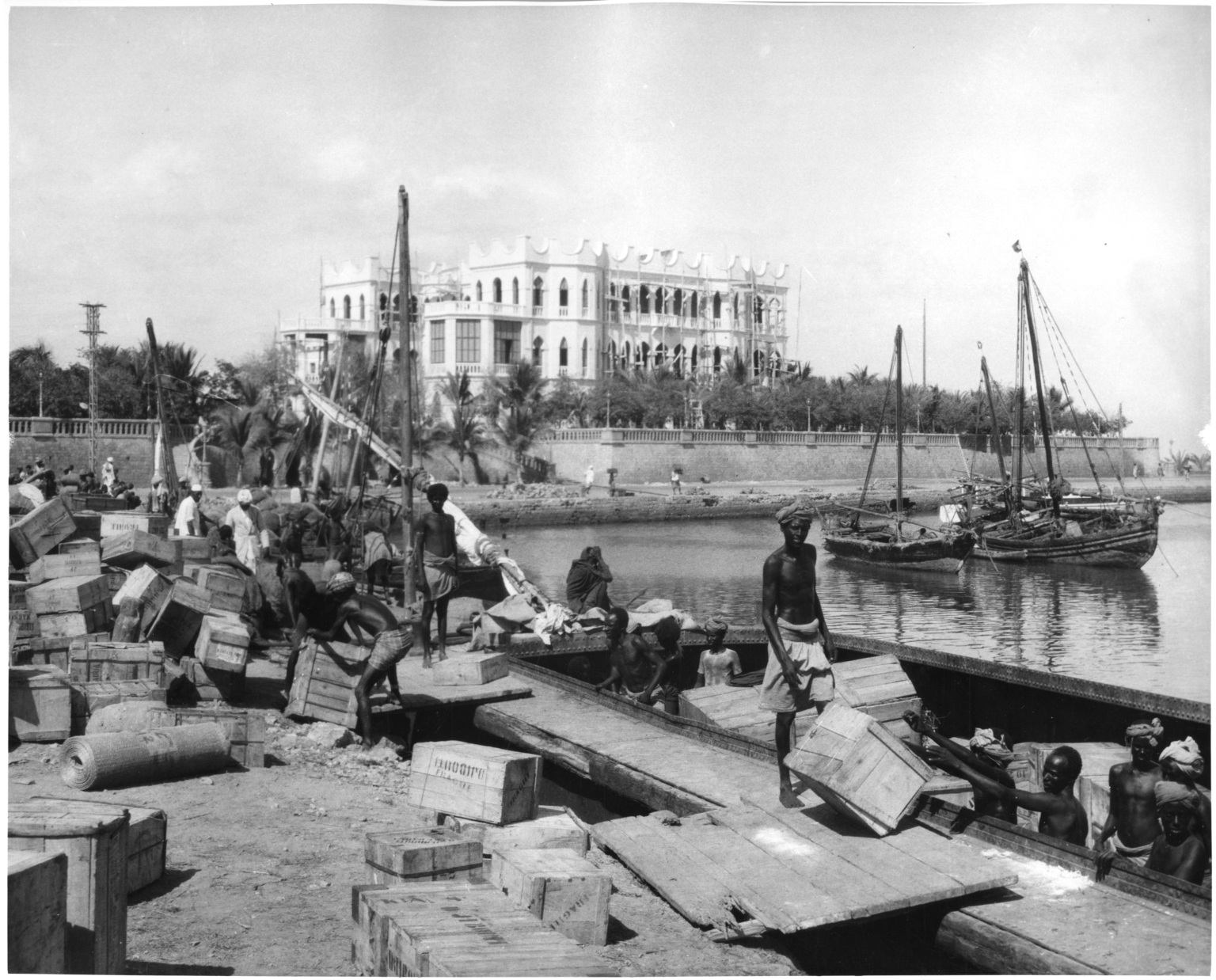 Harbor and Presidential Palace in Djibouti City, Djibouti