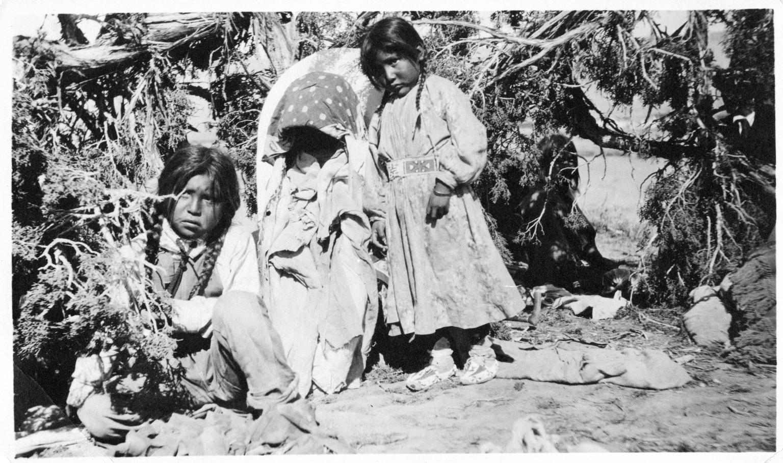 Portrait of Ute Mountain Children
