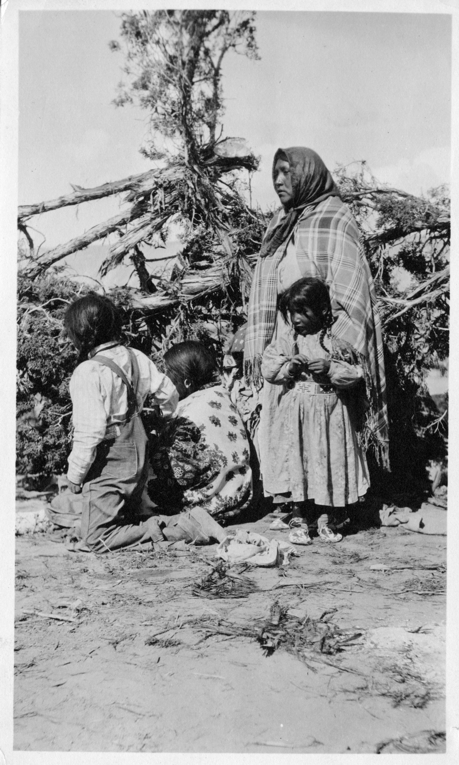 Portrait of a Ute Woman and Child