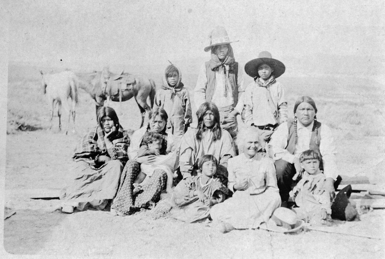 Portrait of Ute Mountain Ute family