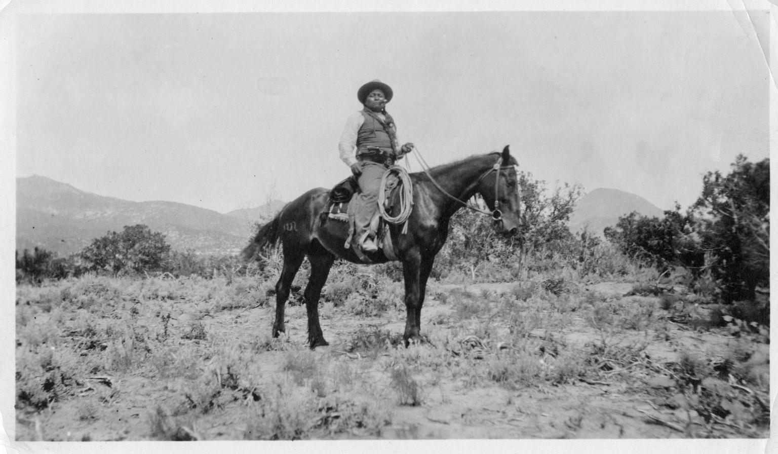Portrait of a Ute Mountain Ute policeman