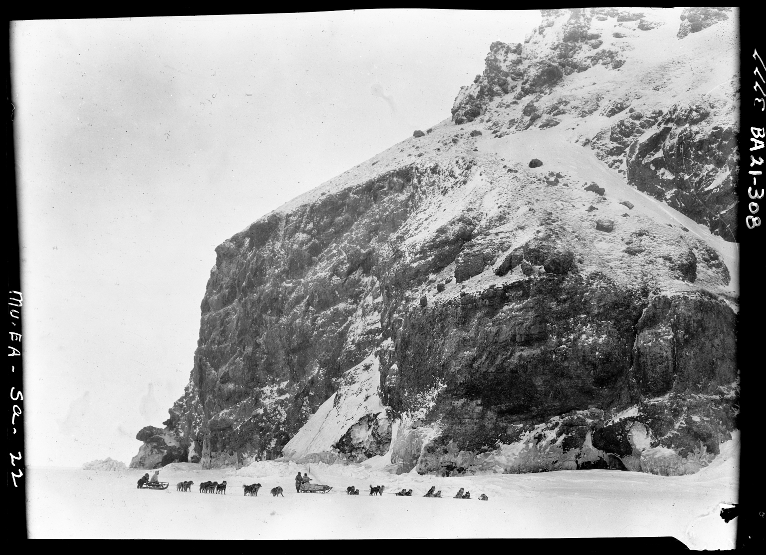 Cape Lisbourne with Museum sled in foreground